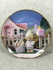 """1993 Precious Moments """"God Loveth A Cheerful Giver"""" Collection Plate"""