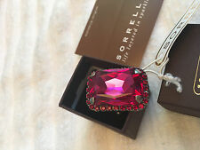 NEW in box  Sorrelli PINK RUBY Stone/Silver Ring NWT RBT69ASCB