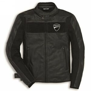 Brand New Ducati Motorbike Motorcycle Black Cowhide Leather Jacket for Bikers