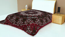 Cotton Indian Mandala Tapestry Maroon Queen Size Star Throw Wall Hanging Throw