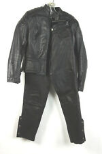NEW Hein Gericke Protective Black Leather Motorcycle Motorcross Jacket Pants 6