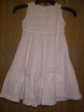 Lily Rio Girls Size 5 Pink Seersucker Dress Attached Slip
