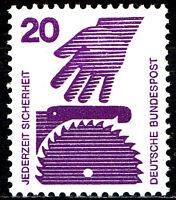 696 A postfrisch BRD Bund Deutschland Briefmarke Jahrgang 1971