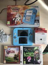 Nintendo 2DS Edición Pokemon Sol + Juegos
