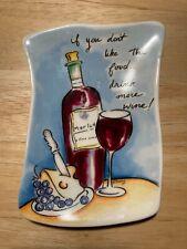 Ceramic Spoon Rest, Wine motif