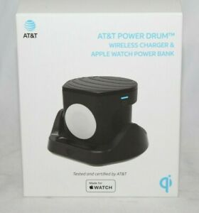 AT&T Power Drum Wireless Charger + Apple Watch Power Bank IPHONE CELL CHARGE