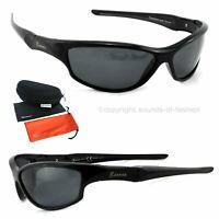 Rennec Sonnenbrille Polarisiert schwarz coole Biker Sportbrille Leicht P77Box