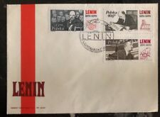 1970 Warsaw Poland First Day Cover FDC Lenin Comp Stamp Set