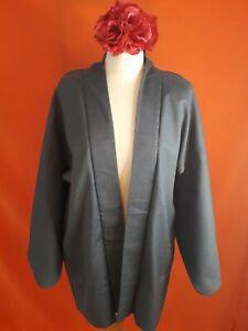 Vintage Original Japanese Kimono Haori Jacket Blue Light Blue Pinstripe
