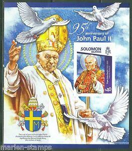 SOLOMON ISLANDS 2015 95th BIRTH ANNIVERSARY OF POPE JOHN PAUL II S/s IMPERF NH