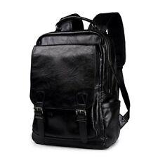 Men's Leather Shoulder Backpack Travel College Laptop Bag Daypack Sport Bookbags