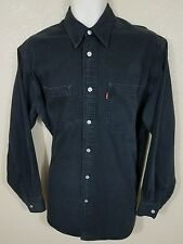 LEVI'S RED TAB DENIM SHIRT.  SMALL.  BLACK.  GUC.   717