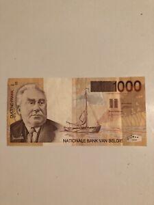 Belgium 1000 Francs 1997 Banknote