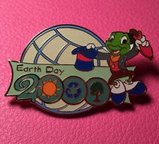 Disney Pin - Jiminy Cricket Tipping Hat Globe Wdw Earth Day 2000 Pinocchio Le