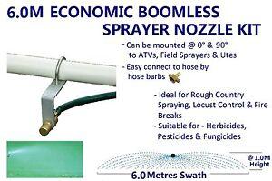 ECONOMIC 6M SWATH BOOMLESS FLAT SPRAYER NOZZLE KIT 8.0L WEED SPOT SPRAY TANK