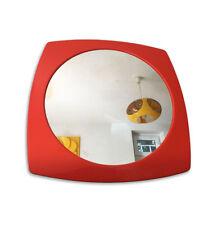 Grand   Miroir  Orange   Vintage    années 70's