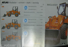 Bagger Mobil o. Hydraulikbagger Prospekt/Heft/INFO Atlas Weyhausen Radlader 52