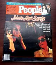 People Magazine  Feburary 20 1982 John Lennons Last Songs  Beatles Yoko Ono VG++