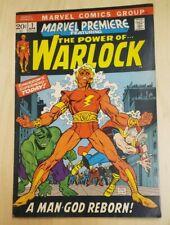 MARVEL PREMIERE #1 7.0-7.5  ADAM WARLOCK 1st Soul Gem Key Book