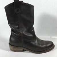 Double H Boot Company Men's Cowboy Ranchwell Boots Brown Leather Size 7.5 E