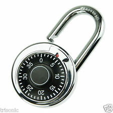 Rotary Digit Combination Padlock Round Dial Number Code Lock Padlock Safes Gear