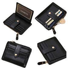 Bag Money Clip Genuine Leather Purses Zipper Wallet ID Credit Card Holder