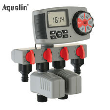 Automatic 4 Station Solenoid Water Timer Garden Watering Controller With 2 Valve