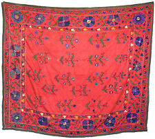 Old Antique Uzbek Handmade Embroidery Silk Susani Of Nurata 1930's