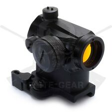 Black Tactical Red Dot Sight Micro T 1x22mm with 660 1/3 QD Co-Witness Mount