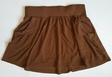 Mini skirt medium 28 ZARA TRAFALUC brown copper scalloped pockets detail