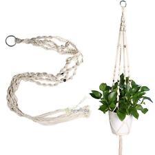 Natural Handcrafted Macrame Window Jute Plant Basket Pot Holder Hanging Hanger