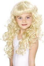 Smiffys Sm42131 Perruque enfant Princesse Jaune Boucle Taille Unique