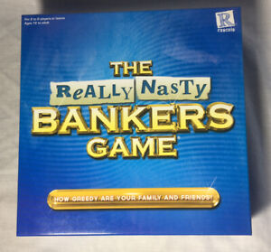 The Really Nasty Bankers Board Game  by Rascals Excellent Condition