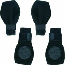 "LM Fahion Pet Arctic Fleece Dog Boots - Black Small (2.75"" Paw)"