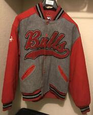 Vintage Chicago Bulls Men's Large Wool Starter Jacket Jordan Pippen LAST DANCE🔥