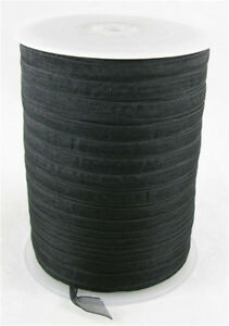 1 roll Black Color Woven Edge Organza Ribbon 6mm For DIY Craft Making 500yd/roll