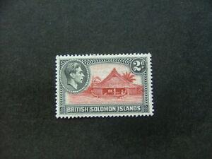 Solomon Islands KGVI 1939 2d orange-brown & black SG63 MM