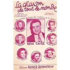 LA CHANSON DE TOUT LE MONDE Reda CAIRE paroles VAUCAIRE BEAUVAIS musique DURAND