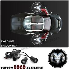 2x Car Door Dodge Logo Light Ghost Shadow Projector Laser Courtesy For Dodge Ram