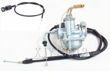 New Carburetor W/ Throttle & Clutch Cable for Yamaha PW50 PW 50