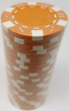 Poker Chips (25) Orange Dice Mold 11.5 gram Clay Composite FREE SHIPPING *