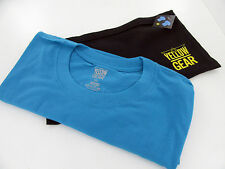 NEW INVICTA MENS T-SHIRT BLUE YELLOW GEAR Pro Diver LARGE w/zippered pouch