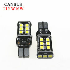 W16W 5000k White 921 T10 T15 Back up Reverse LED Light Bulbs 3RD Brake 955