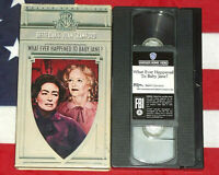 What Ever Happened to Baby Jane? (VHS, 1962) Bette Davis, Joan Crawford, Horror