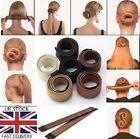 UK Women's Hair Styling Donut Former Foam French Twist Magic DIY Tool Bun Maker