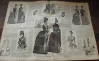 ANCIENNE REVUE LE PETIT ECHO DE LA MODE DE 1888 Nombreuses Gravures n°44