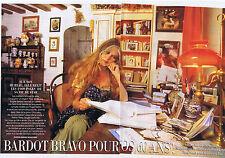 COUPURE DE PRESSE CLIPPING 1994 BARDOT bravo pour vos 60 ans (8 pages)