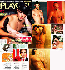 PLAYGIRL 3-06 HAIRY BLOND DAVE ROB METTS ASIAN HUNK ASHTON KUTCHER MARCH 2006