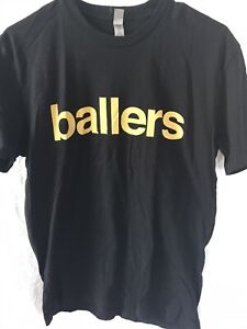 2015 ballers Tv Show hbo promotional t shirt Dwayne the rock Johnson H.b.o Med