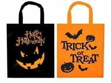 2Pk Halloween Trick or Treat Candy Sweets Bag Kids Children Pumpkin Goodie Party